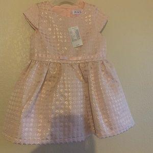 Blush pink toddler dress